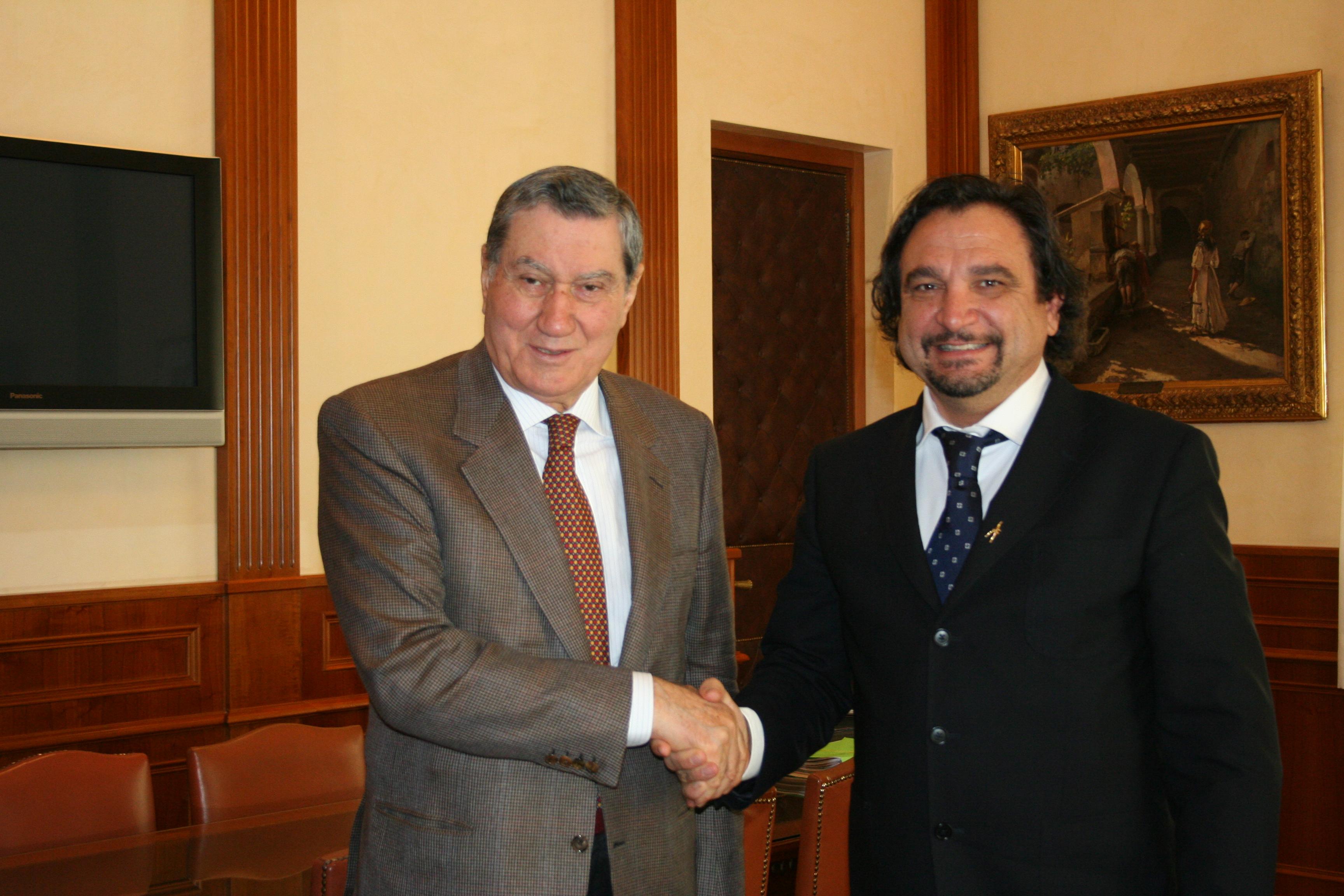 Alberghini con il vicepresidente del CSM