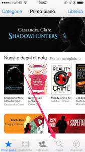 Schermata principale di iBookStore
