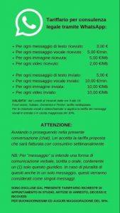 tariffario whatsapp