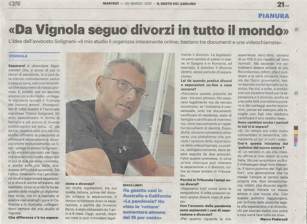 Da Vignola seguo divorzi in tutto il mondo