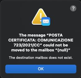 mailbox inesistente